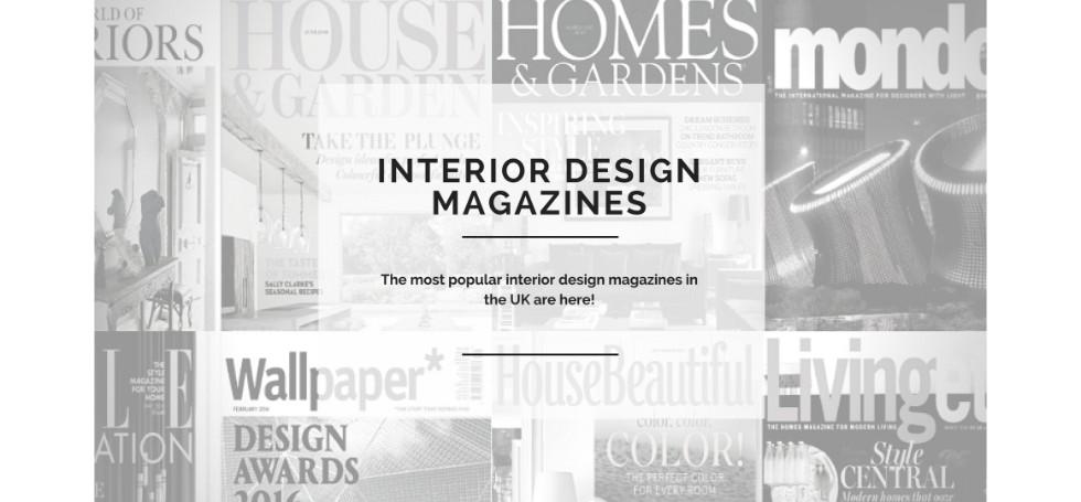 10 Most Popular Interior Design Magazines In The UK!